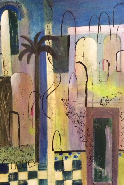 Moroccan Courtyard - Fine Art Prints - Hampton London Artist Jennifer Brown