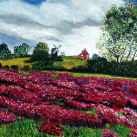 Reigate Heath Heather – Award-Winning  Bromley Art Society Artist Richard Waldron