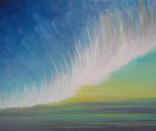 Riding the Energy Wave - Acrylic on Canvas - 70cm x 51cm - Simon Oliver