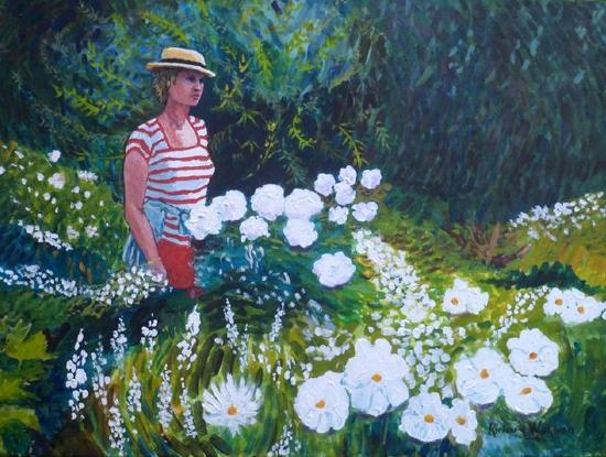 Roberta in Monet's Garden - SAA Artist of the Year 2021 Award - Richard Waldron
