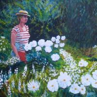 Roberta in Monet's Garden at Giverny – SAA Artist of the Year 2021 Award – Richard Waldron