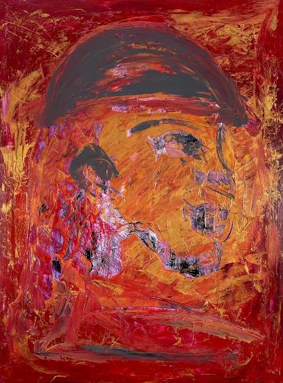 Soldier - War Animal - Expressionist Abstract Surrey Artist Shanon King