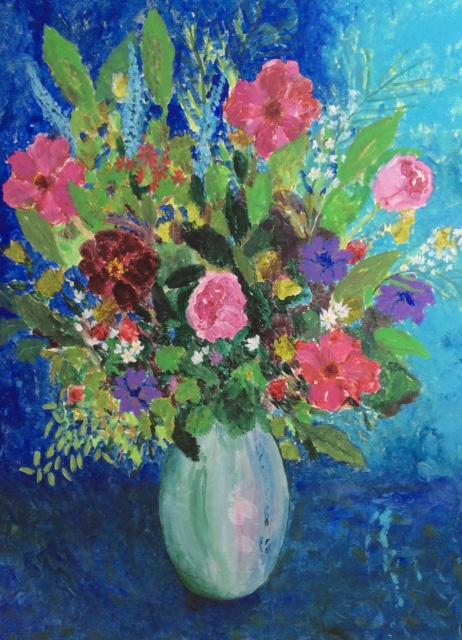 Summer Flower Bouquet - Fine Art Prints - Paintings - Hampton London Artist Jennifer Brown