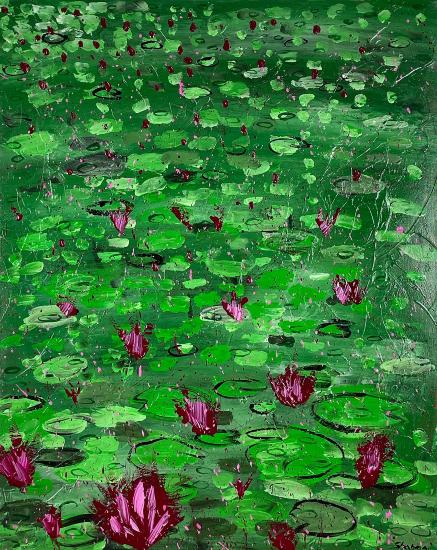 Waterlilies 1 Original Artwork by Ashtead Surrey Artist Shanon King