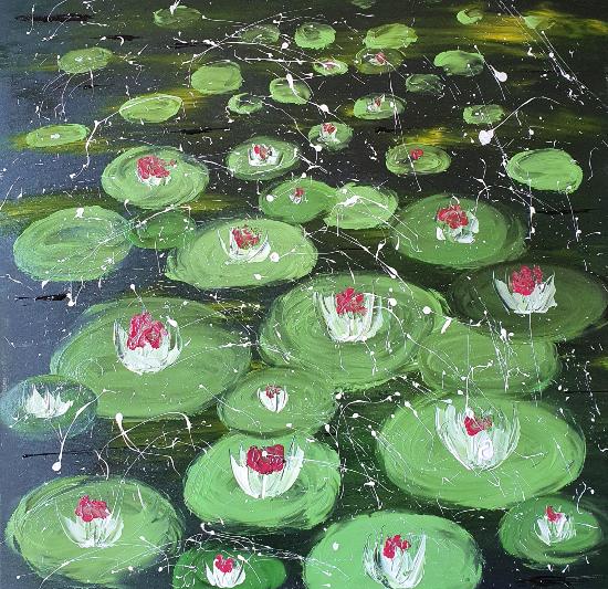 Waterlilies - Contemporary Ashtead Artist Shanon King