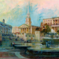 St Martin in the Fields -Acrylic Painting – Michael Walsh SGFA Artist