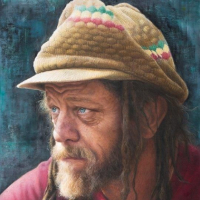 Portrait of Man – Neil – Oil Painting by Guildford Surrey Artist Nathalie Scott