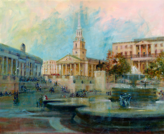 St Martin in the Fields -Acrylic Painting - Michael Walsh SGFA Artist