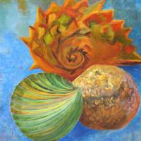 Meeting –  Ménage à Trois – Still-Life Artwork by Woking Art Society member Carla Scarano
