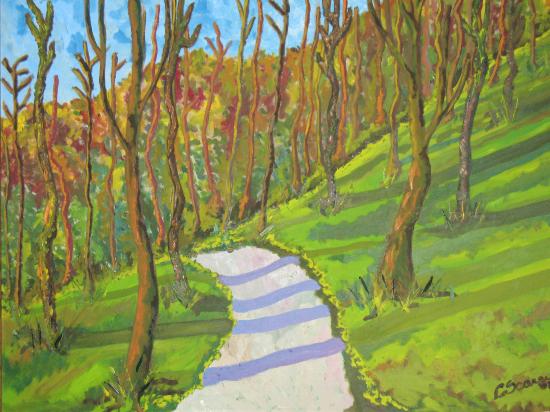 Walk in the Wood, Keswick, Lake District - Chobham Art Group member Carla Scarano