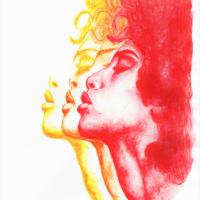 Watercolour & Pastel Portrait – Contemporary Guildford Art Society Artist Aly Lloyd – Soul