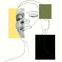 Woman's Face – Ink, Graphite & Pastel Art – Guildford Artist Aly Lloyd – Juxtapose 1