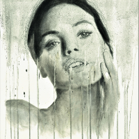 Woman's Portrait in Ink, Graphite & Pastel – Contemporary Guildford Artist Aly Lloyd – Unmasked