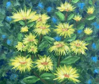 Flowers - Yellow Dahlia - Shere Floral Artist Larisa Han