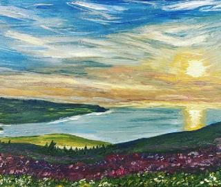 Selworthy Beacon Exmoor Devon Landscape - Shere Artist Larisa Han