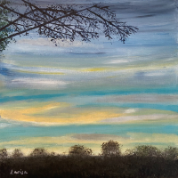 Sunset Sky – Shere Surrey Landscape Artist Larisa Han